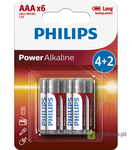 BATERIA POWER ALKALINE LR03 B6 LR03P6BP/10 PHILIPS 1 szt/
