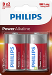 BATERIA POWER ALKALINE LR20 B2 LR20P2B/10 PHILIPS 1szt.