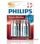 BATERIA POWER ALKALINE LR06 B4 LR6P4B/10 PHILIPS 1 szt.